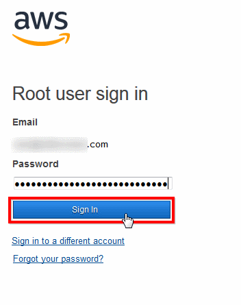enter account password